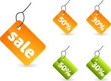 Étiquettes de vente Photographie stock libre de droits