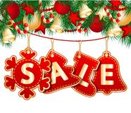 Étiquettes de vente de Noël Images stock