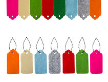 Étiquettes de vente Label de feutre différent de couleur Images stock