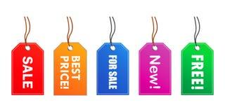 Étiquettes de vente (vecteur) Image libre de droits