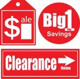 Étiquettes de ventes Image stock