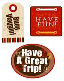 Étiquettes de voyage Images stock