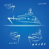 Étiquettes de yacht Image libre de droits