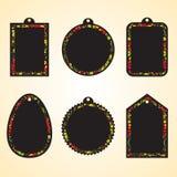 Étiquettes du fabriquant de Hohloma réglées Images stock