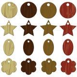 Étiquettes en bois Photo libre de droits