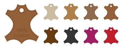 Étiquettes en cuir illustration stock