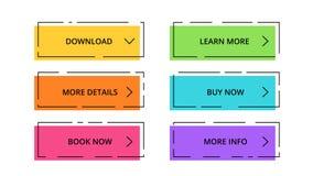 Étiquettes en ligne d'achats Dirigez infographic de papier, bannières diagram, des labels, boutons, diagramme de présentation d'a Illustration Libre de Droits
