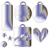 Étiquettes en métal Images stock