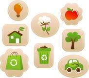 Étiquettes et étiquettes d'écologie Photographie stock libre de droits