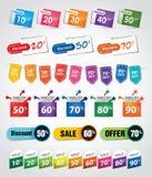 Étiquettes et étiquettes d'escompte Images stock