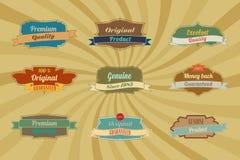 Étiquettes et diviseurs bleus de restaurant de cru illustration libre de droits