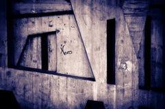 Étiquettes et graffiti image stock