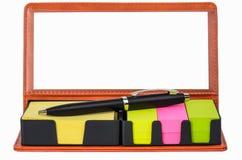 Étiquettes et labels de couleur Images stock