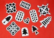 Étiquettes faites main de cadeau de Noël Image stock