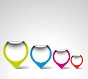 Étiquettes/flèches indicatrices colorées de rond illustration libre de droits