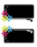 Étiquettes florales Images stock