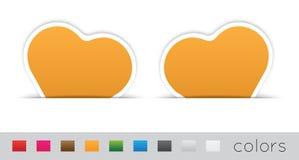 Étiquettes géométriques d'orange Photographie stock libre de droits