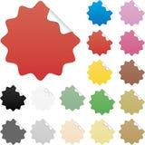 Étiquettes lustrées brillamment colorées de vente d'éléments de Web Image libre de droits