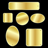 Étiquettes métalliques - d'or Photos stock