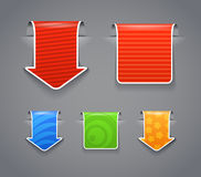Étiquettes modelées avec l'interne blanc Photographie stock libre de droits