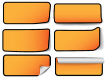 Étiquettes modernes de vente - six types Image stock