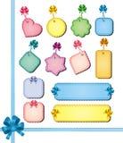 Étiquettes multicolores illustration stock