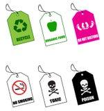 Étiquettes No.1 Images libres de droits