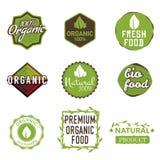 Étiquettes organiques Photos libres de droits