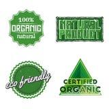 Étiquettes organiques Image stock