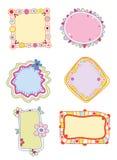 Étiquettes ou trames colorées Images stock