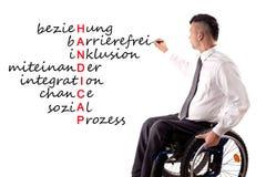 Étiquettes pour des handicaps photographie stock