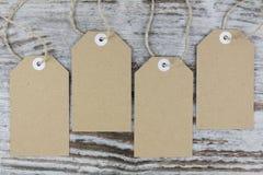 Étiquettes pour l'empaquetage Image stock