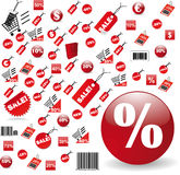 étiquettes réglées de vente Images stock