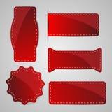 Étiquettes rouges Image libre de droits