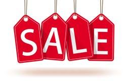Étiquettes rouges de ventes Image stock