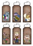 Étiquettes tirées à quatre épingles de Pâques Image stock
