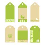 Étiquettes vertes d'écologie Photo libre de droits