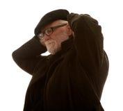 Étirage de vieil homme Photos libres de droits