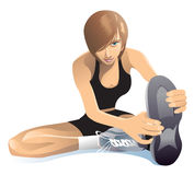 Étirage des exercices Images stock