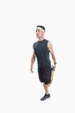 Étirage des muscles de jambe Image libre de droits