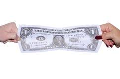 Étirage du dollar Photos libres de droits