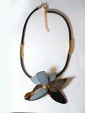 Étnico plástico de cristal del metal del collar Fotos de archivo libres de regalías