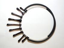 Étnico plástico de cristal del metal del collar Imagen de archivo