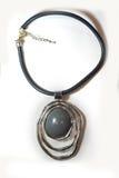 Étnico plástico de cristal del metal del collar Imagen de archivo libre de regalías