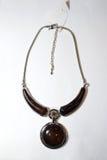Étnico plástico de cristal del metal del collar Fotografía de archivo libre de regalías
