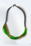 Étnico plástico de cristal del metal del collar Foto de archivo