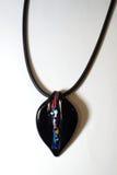 Étnico plástico de cristal del metal del collar Imagenes de archivo