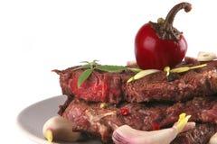Étoffez haut proche de viande Photo stock