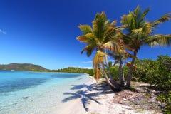 Étoffez la plage d'île (BVI) Image stock