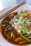 Étoffez la soupe de nouilles de la Thaïlande Image libre de droits
